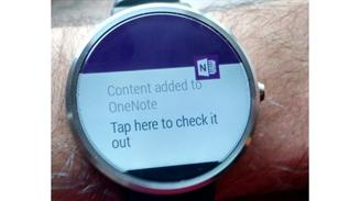 onenote para android wear