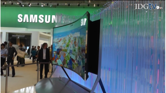 Samsung Bendable OLED: TV curvado y flexible