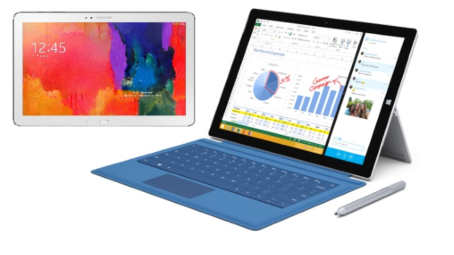 SurfacePro3 y GalaxyTabPro