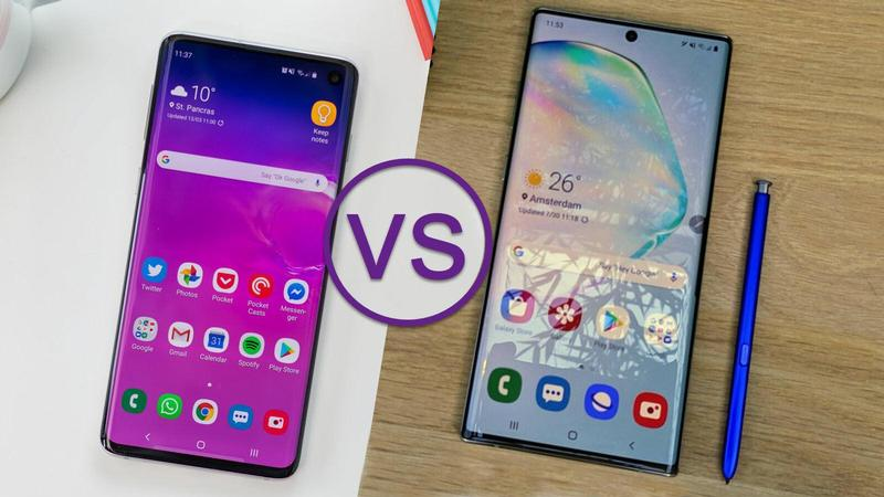 comparativa samsung galaxy s10 note 10