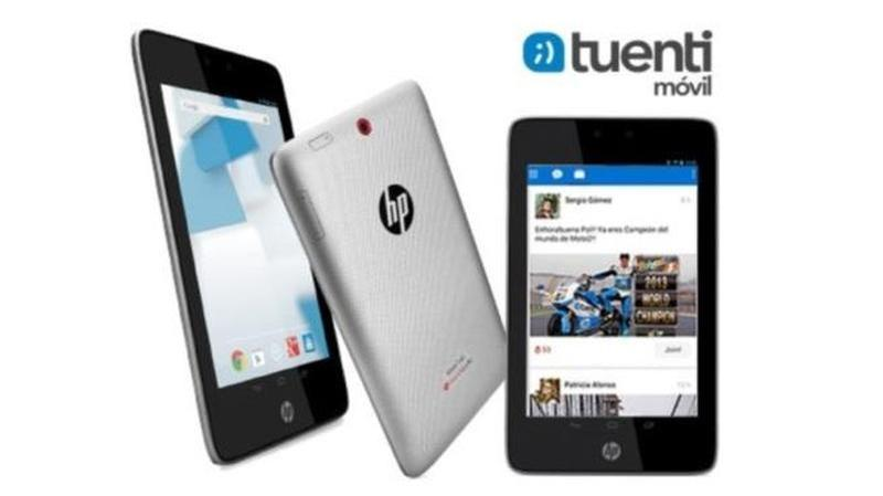 hp tuenti movil tablet slate 7