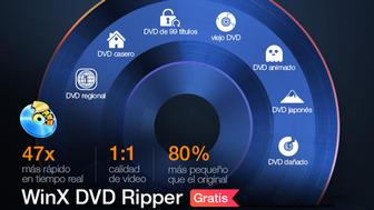 Convierte gratis de DVD a MP4 en Windows 10 con WinX DVD Ripper