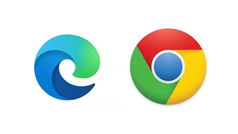 chrome vs edge logos