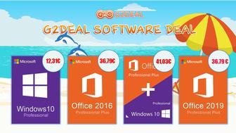Consigue Windows 10 Pro por 12,31 € o añade Office 2019 por 41,03 €