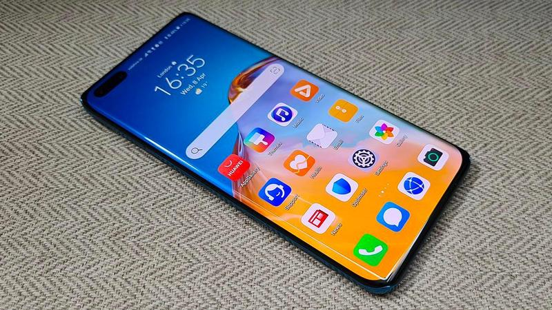 huawei p40 pro angled front view