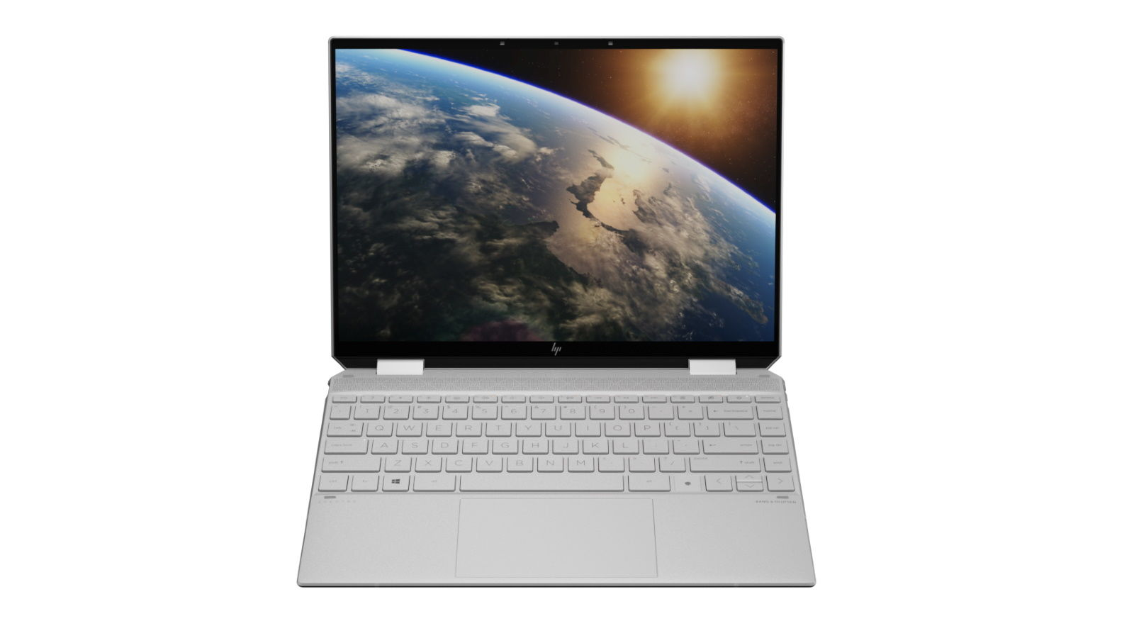 hp spectre x360 14 front facing natural silver