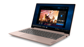 lenovo ideapad s340 13inch facing left sand pink