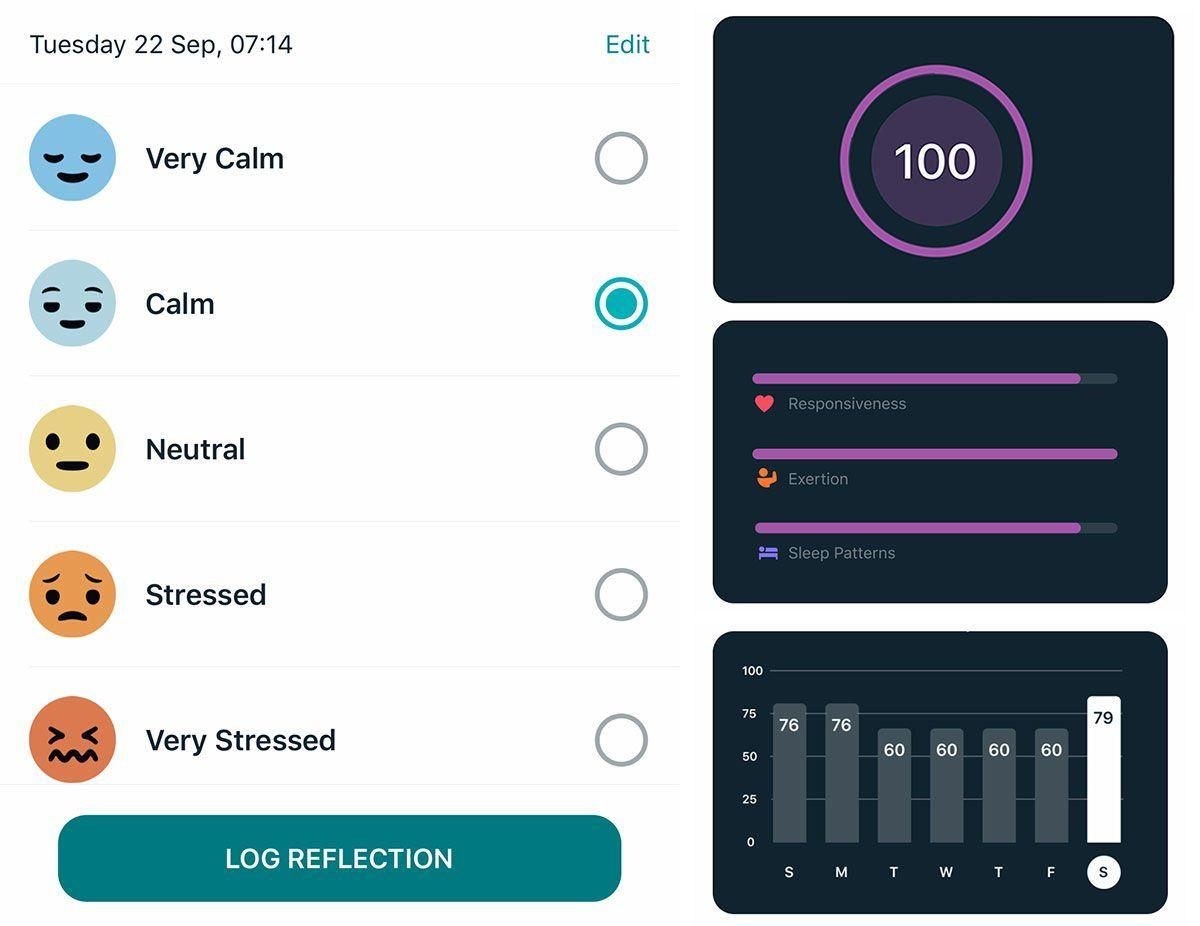 fitbit stress management thumb