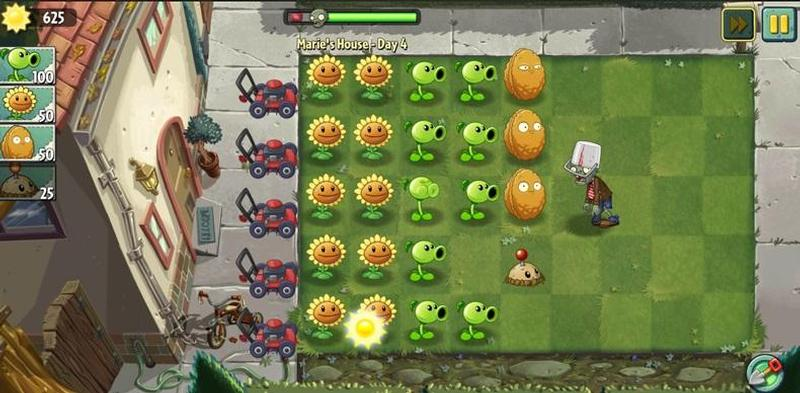 Plants against zombies