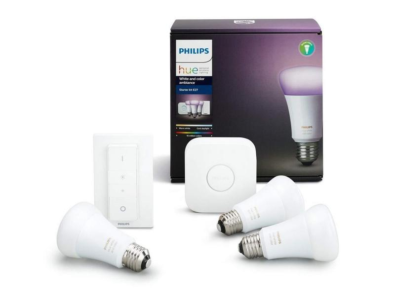 Philips Hue White and Color Ambiance Starter Kit (3 Bulbs)